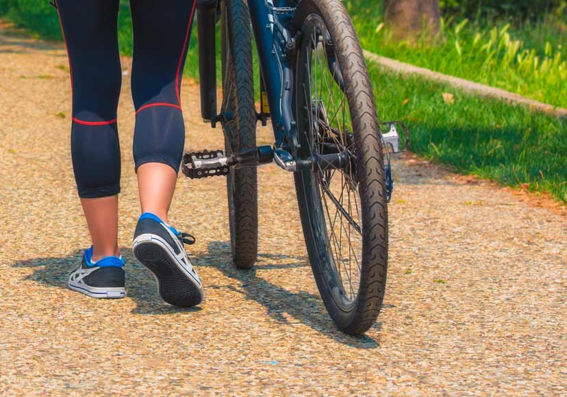 afvallen lopen of fietsen